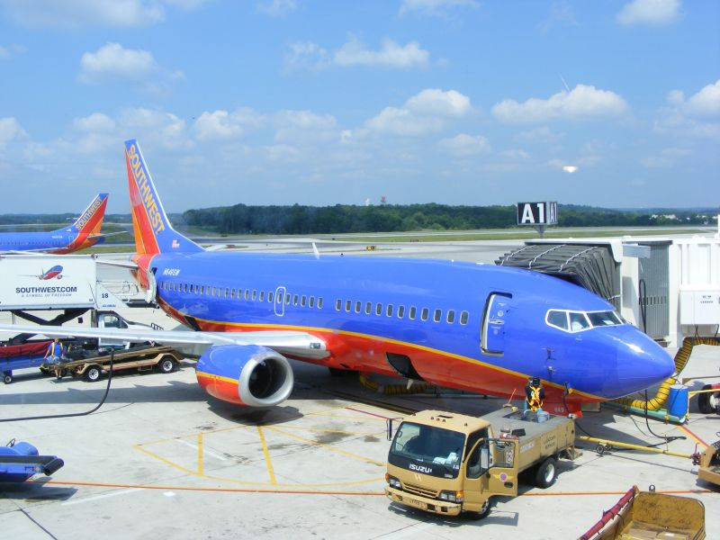 A Southwest jet being fueled at BWI Airport. Photo by Benet J. Wilson