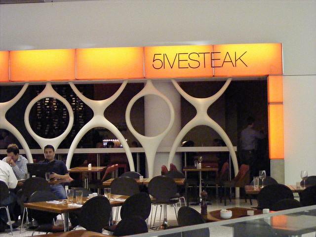 5ivesteak restaurant at JFK AIrport's Terminal 5. Photo by Benét J. Wilson