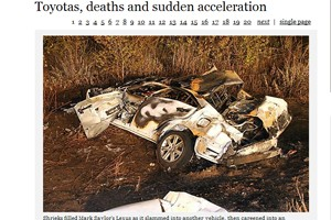 Toyota recall for sudden acceleration Los Angeles Times