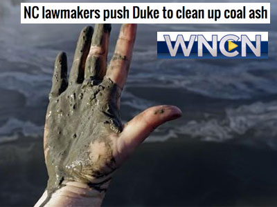 coal ash dirty hand