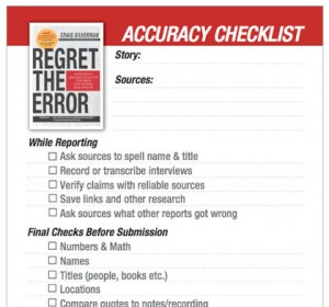 Craig Silverman Regret the Error checklist