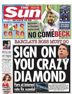 sign on you crazy diamond  headline
