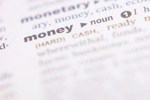 Dictionary page Money