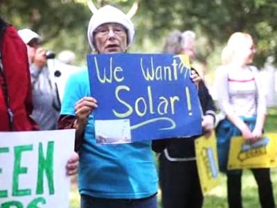 Protest against Duke Energy