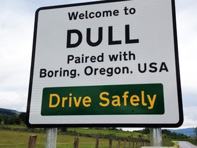 Dull, Scotland, Boring Oregon