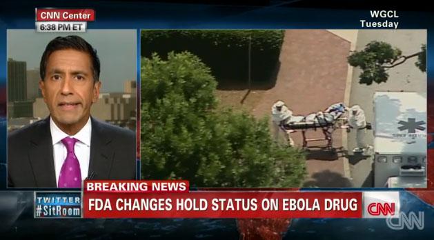 CNN's Sanjay Gupta reports on TKM-Ebola, a new drug in the works. PHOTO: CNN screenshot