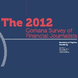 2012 Gorkana survey of financial journalists
