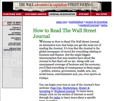 How to read the WSJ