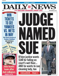 Judge Named Sue headline  Jon Talton blog