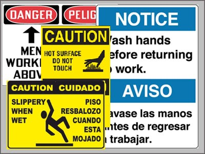multi lingual signs at work