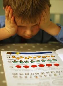 Not math little boy workbook