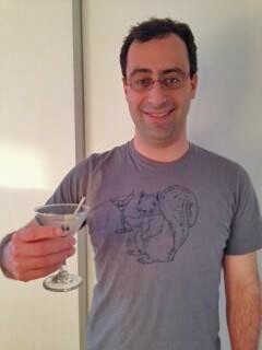 Matt Levine in his NPR Planet Money T-shirt.