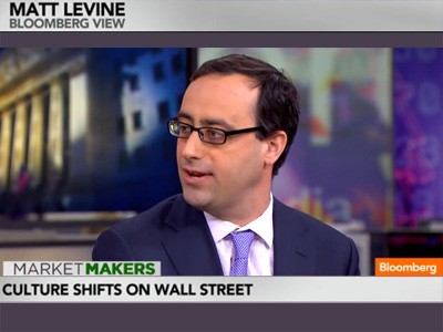 Matt Levine on Bloomberg TV