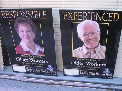 Employ older workers posters