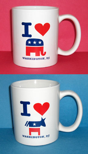 Republican Democrat coffee mugs