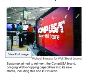 Systemax Inc. WSJ