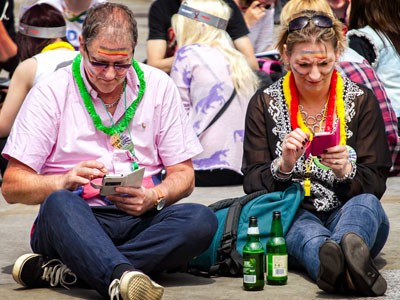 Checking out Pride London 2013 photos