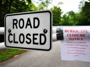 road closed Hurricane Irene