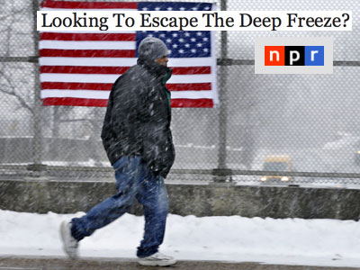 Snowy day in New Jersey NPR
