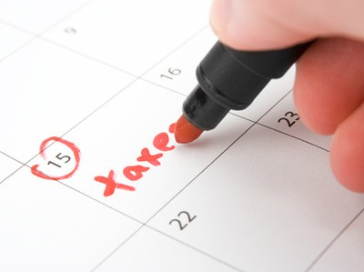 Taxes on Calendar
