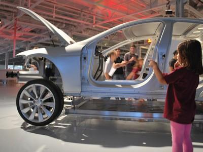 Tesla factory in Fremont, Calif.