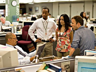 The Wire newsroom