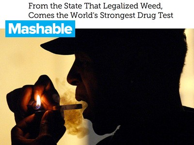 Mashable drug test story image of man smoking