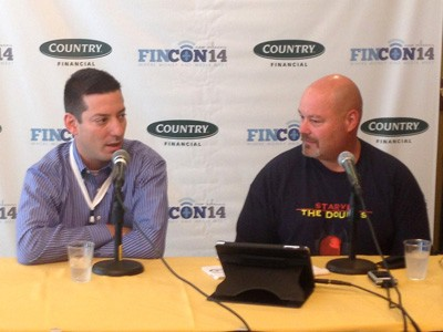 Two podcasters at FINCON14