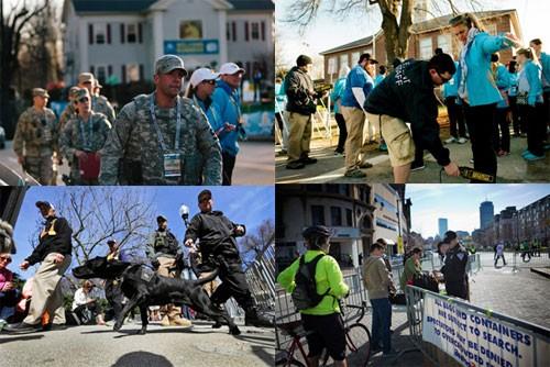 Boston Marathon 2014 security