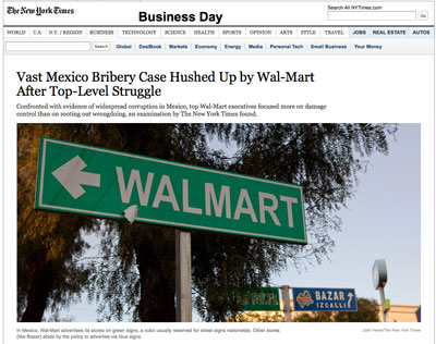 New York Times Walmart story