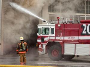 U.S. Naval Station Norfolk warehouse fire