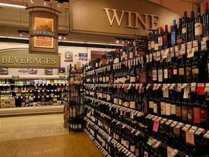 Wine on shelving