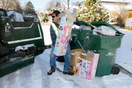 Christmas garbage pickup