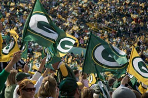 Fans of the Green Bay Packers
