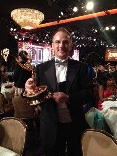 Guillermo Arduino receives an Emmy Award.