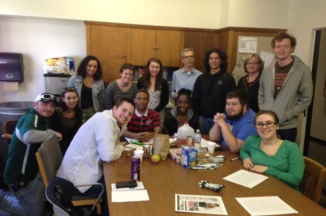 Staff members of the Eastern Echo and EMU journalism students.