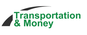 Transportation and money logo