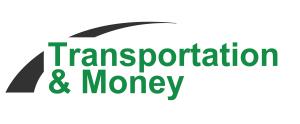 Transportation and money logo