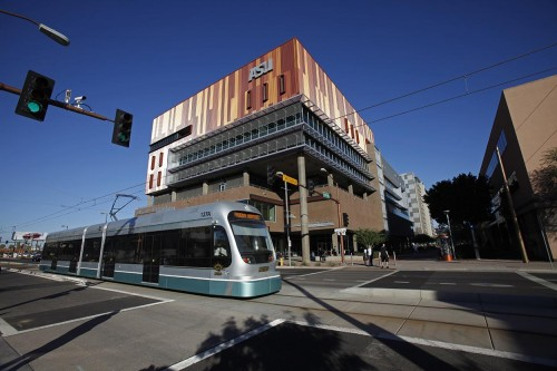 Phoenix's light rail system is used by thousands of ASU students.