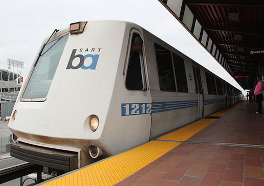 A BART subway car. Image courtesy of Maurits90/Creative Commons wikipedia