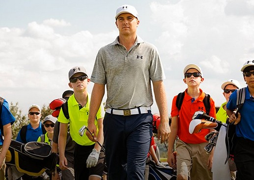 This image from Under Armour's website shows the company is taking advantage of its endorsement deal with Jordan Spieth, golf biggest standout this year. (Via Under Armour)
