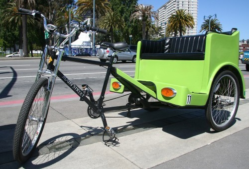 A pedi-cab in San Francisco. Photo via frogMob on Flickr.