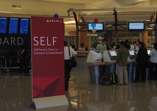 The Delta Air Lines lobby at Atlanta's Hartsfield-Jackson International Airport. Photo by Benet J. Wilson