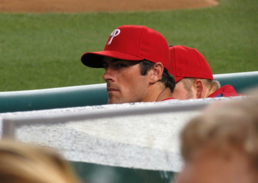 Phillies pitcher Cole Hamels. (Via Flickr.com user Matthew Straubmuller)