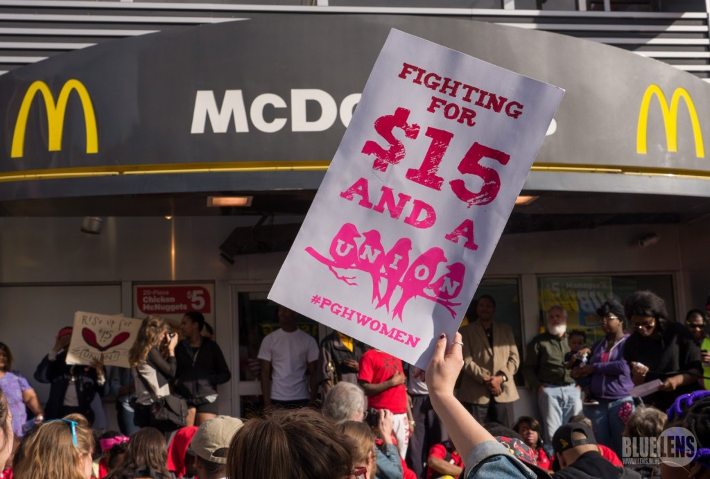 Fight for $15 protest