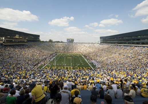 Michigan Stadium. (via Flickr.com user Larry)