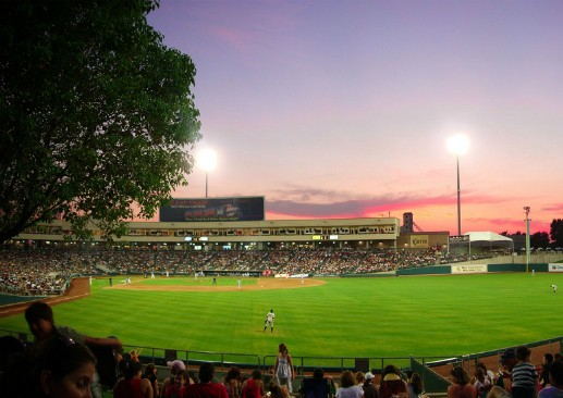 Raley Field, home of the Sacramento River Cats. (Via Flickr.com user Logan Sakai).