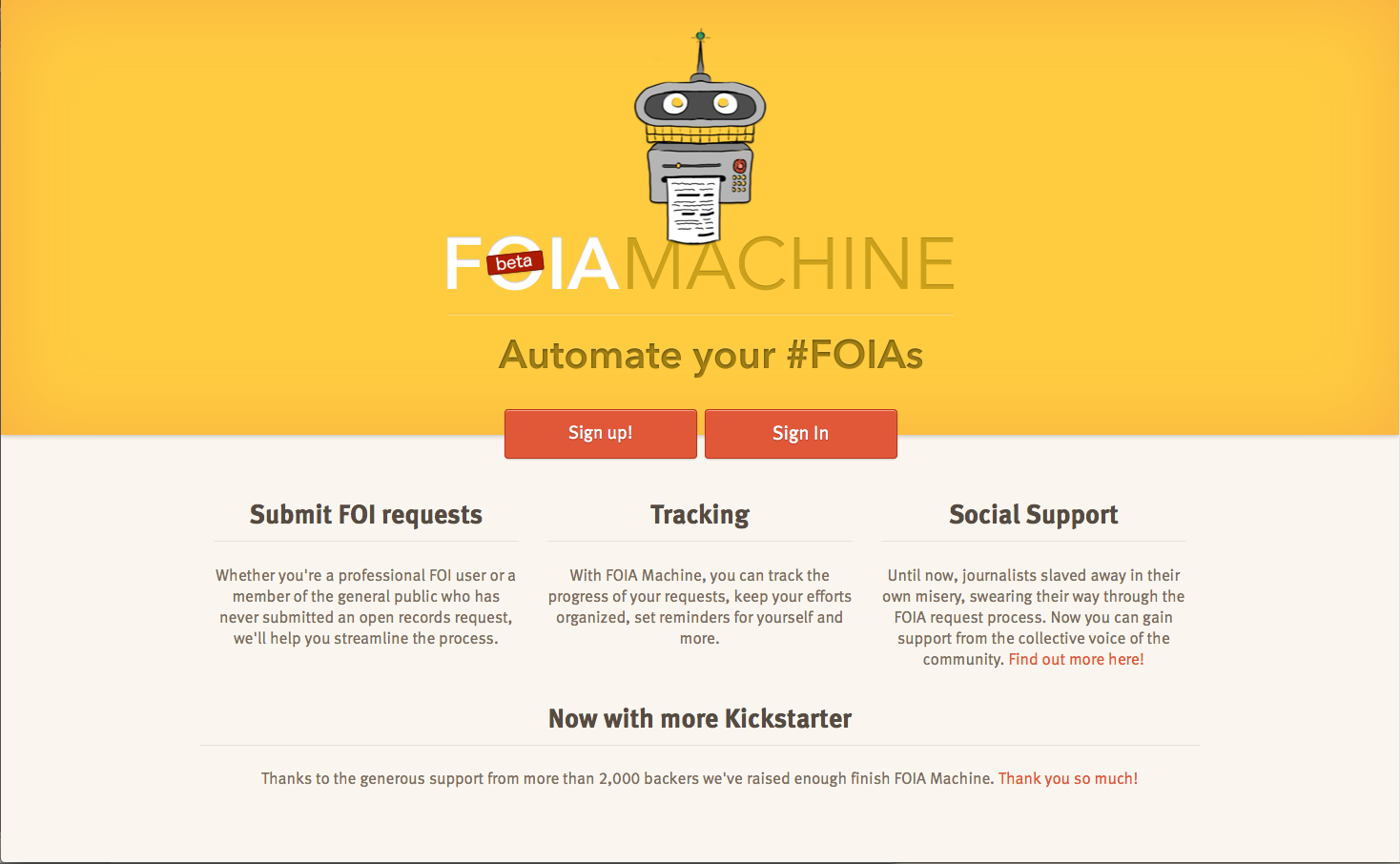 foia machine