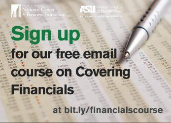 ASU Reynolds Center Releases New Email Course in Covering Financials