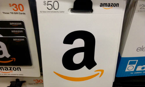 """Amazon.com Gift Cards, 1/2015"" by Flickr user ""Mike Mozart "" CC BY-NC-ND 2.0"